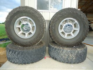 Hummer Wheels and Tires Original GM Polished 4x4 Lifted Silverado Duramax Nice