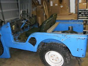 1952 Kaiser Carryall Army Jeep Selling for Parts Vin 17228