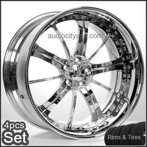 24 Forged 3pc Wheels and Tires for Camaro Range Rover Mercedes Custom Build Rims
