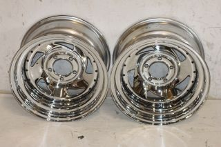 2 Cragar 330 Series Chrome Wheels 15x8 5x4 5 87 06 Jeep Wrangler YJ TJ Cherokee