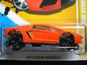 2012 Hot Wheels New Models 13 Lamborghini Aventador Error Car Unspun Rivets