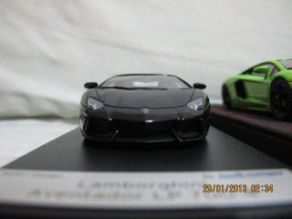 Looksmart 1 43 Lamborghini Aventador LP700 4 Black with Red Wheels Limitedbbr Mr