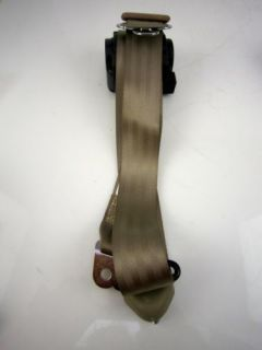 Pair 3pt GM Chevy Buick Pontiac Retractable Seatbelts Tan Hot Rod Interior Parts