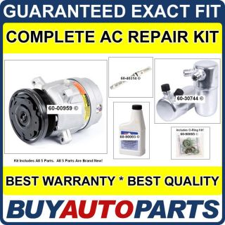 Brand New Complete AC Repair Kit with Compressor Clutch for Chevy GMC Isuzu