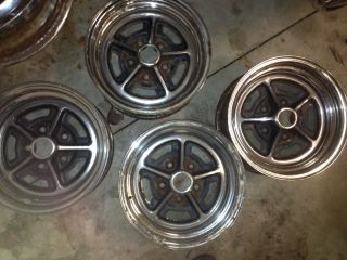 Buick Regal 78 87 rwd Set of 4 14x 6 Chrome Rally Wheels Rims GS Skylark Special