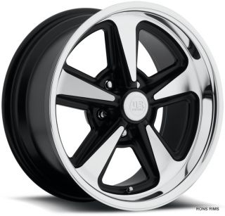 "US Mag Pontiac GM Buick Style Rally ""Bandit"" 17x8 Machined Black Hotrod Wheel"