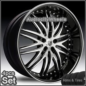 "22""Wheels Tires Lexani LX10 Rims 5LUG Chevy Truck Camaro Impala Ad More"