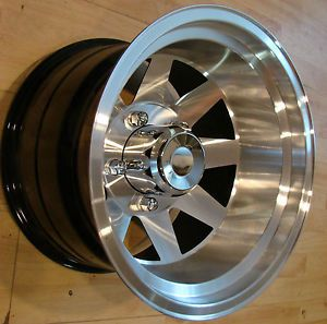15x10 Aluminum Jackman Style Wheels Rims Mags 5x5 5 Ford Bronco F 150 Jeep CJ5