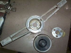 1961 Chevrolet Belair Interior Steering Wheel Center Horn Trim Button Parts