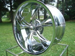 18x8 Ridler Hot Rod Wheels Buick Olds GM Chevy Chrome Pontiac 695 Series