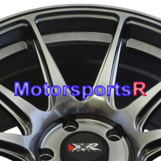 17 17x8 25 XXR 527 Chromium Black Concave Rims Wheels 5x4 5 06 13 Honda Civic SI
