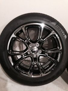 "4 2014 20"" Jeep Grand Cherokee SRT8 Black Chrome Wheels Tires"