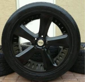 22 inch All Black Wheels Rims Jeep Grand Cherokee