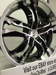 18 inch Black Verde Jaggedge Wheels Rims Kia Forte Optima Soul Rondo Sportage