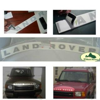 Land Rover Front Hood Decal Sticker Badge Black Discovery I II Aftermarket