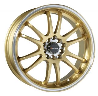 "18"" Gold Wheel Rim Mitsubishi Lancer Evolution EVO VIII VIIII 350Z 370Z 5x114 3"