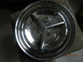 "1955 1956 Oldsmobile Accessory 15"" Spinner Hub Cap Hubcap Wheel Cover Fiesta"