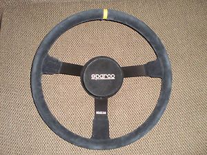 "Sparco NASCAR Racing 16"" Steering Wheel Like Momo Suede"