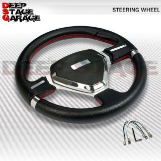 Universal 6 Bolt Aluminum Frame 320mm Racing Steering Wheel Black Shield Center