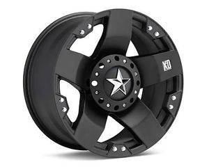 "17"" KMC XD Rockstar Black Wheels Rims 5 Lug Ford F 150 Truck 5x135"