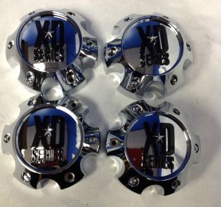 Set 4 KMC XD Series XD796 XD797 XD798 Chrome Wheel Center Cap 1079L145 6x5 5