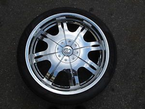 Lexus LS 4600 Chrome Wheels and Tires Set 4 Accessiories Factory Offset