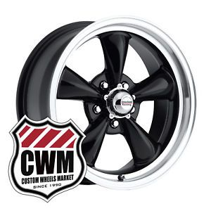 "17x7"" Black Wheels Rims 5x4 75"" Lug Pattern for Pontiac GTO 1965"