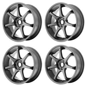 Motegi Racing MR125 MR12588051435 Rims Set of 4 18x8 35mm 5x100 Titanium Gray