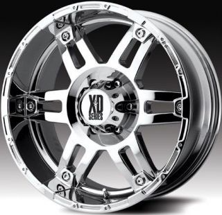 17 inch KMC XD Spy Chrome Wheels Rims 6x5 5 6x139 7 18