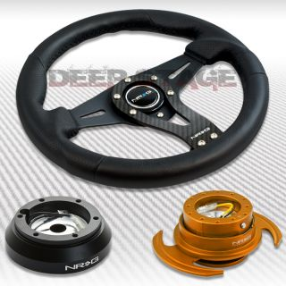NRG Carbon Steering Wheel Hub Rose Gold Gen 3 Quick Release Kit 91 05 Miata RX 7