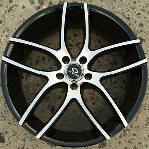 Lorenzo WL035 20 x 8 5 Black Rims Wheels Honda Accord V6 98 02 5H 38