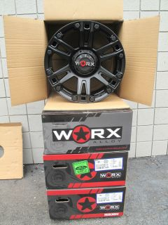 "20"" Worx Beast Black Wheels Rims New Set Fit Dodge RAM 1500 1994 2013 Years"