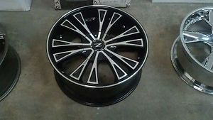 "22"" Zinik Z29 5x150 Black Machined Wheel 22x9 5 Z2922550B3511 5 Lug Toyota"