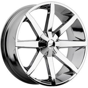 26 inch KMC Slide Chrome Wheels Rims 6x135 Ford F150 Expedition Navigator 6 Lug