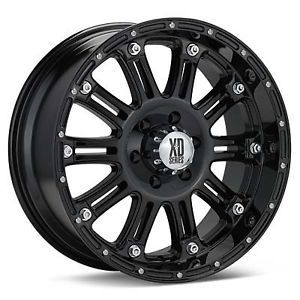 20 inch KMC XD Hoss Black Wheels Rims 6x5 5 6x139 7 30