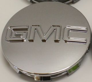 GMC Sierra Yukon Denali Center Caps 9595759 3 1 4 in Fits 18 20 22 in Wheels