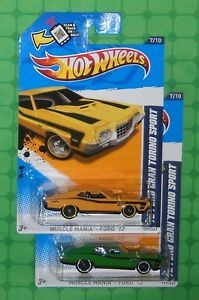 2012 Hot Wheels Muscle Mania Ford '72 Ford Gran Torino Sport 2 Variations