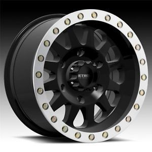 15 inch 15x10 Method Race Double Standard Black Machine Wheels Rim 5x4 5 5x114 3