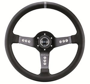 "Sparco Street Leather Grey Stitching Steering Wheel Sport ""Limited Special """