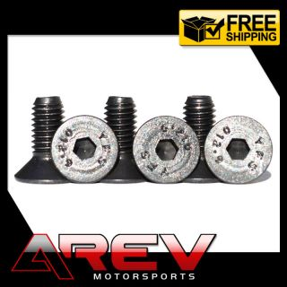 Black Steering Wheel Bolts Screw Kit 6 Bolt Nardi Personal NRG Momo Sparco