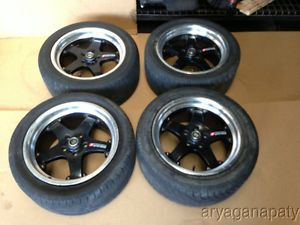 "Nissan 350Z Motegi Racing Touge 17"" Wheels Rims with Tires 5x114 3 Black"