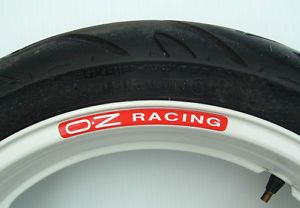 Oz Racing Wheel Rim Stickers Many Colours Alloys