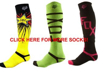 Fox Racing Fri Youth Rockstar Socks Red Yellow MX ATV Boot Motorcycle Motocross