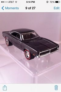 "Hot Wheels Redline '69 Charger Charcol Black New Loose ""Ultra Hots"""