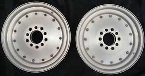 Pair Ultra Lite Cragar Super Tricks Drag Racing Gasser Rims Wheels Mags 15 x 3 5