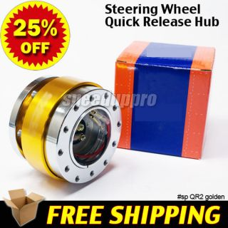 6 Bolt Steering Wheel Quick Release Hub Kit Golden for Momo Nardi NRG Sparco OMP
