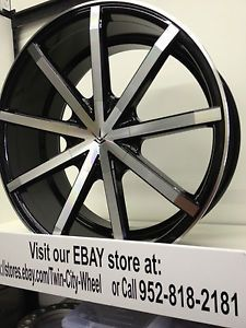 20 inch Verde Contra Black Wheels Rims Toyota Avalon Camry Highlander Venza 20""