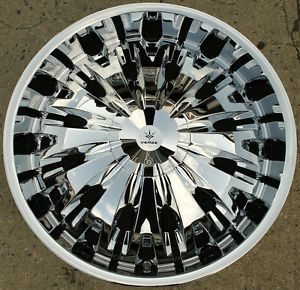 Verde Titanio V28 24 x 9 5 Chrome Rims Wheels Chevrolet Suburban 07 Up 6H 25