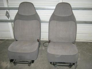 93 97 Ford Ranger Truck Cloth Gray Charcoal XL Bucket Seats