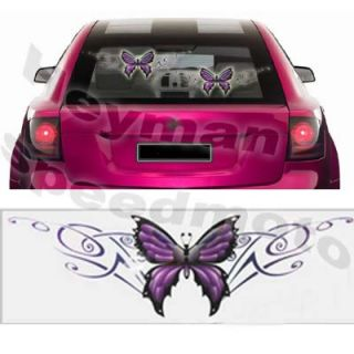 Waterproof One Piece Purple Butterfly Sticker Decal for Car Motorcycle Bike 113